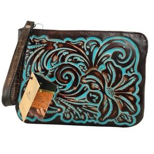 patricia nash cassini wristlet wallet bag